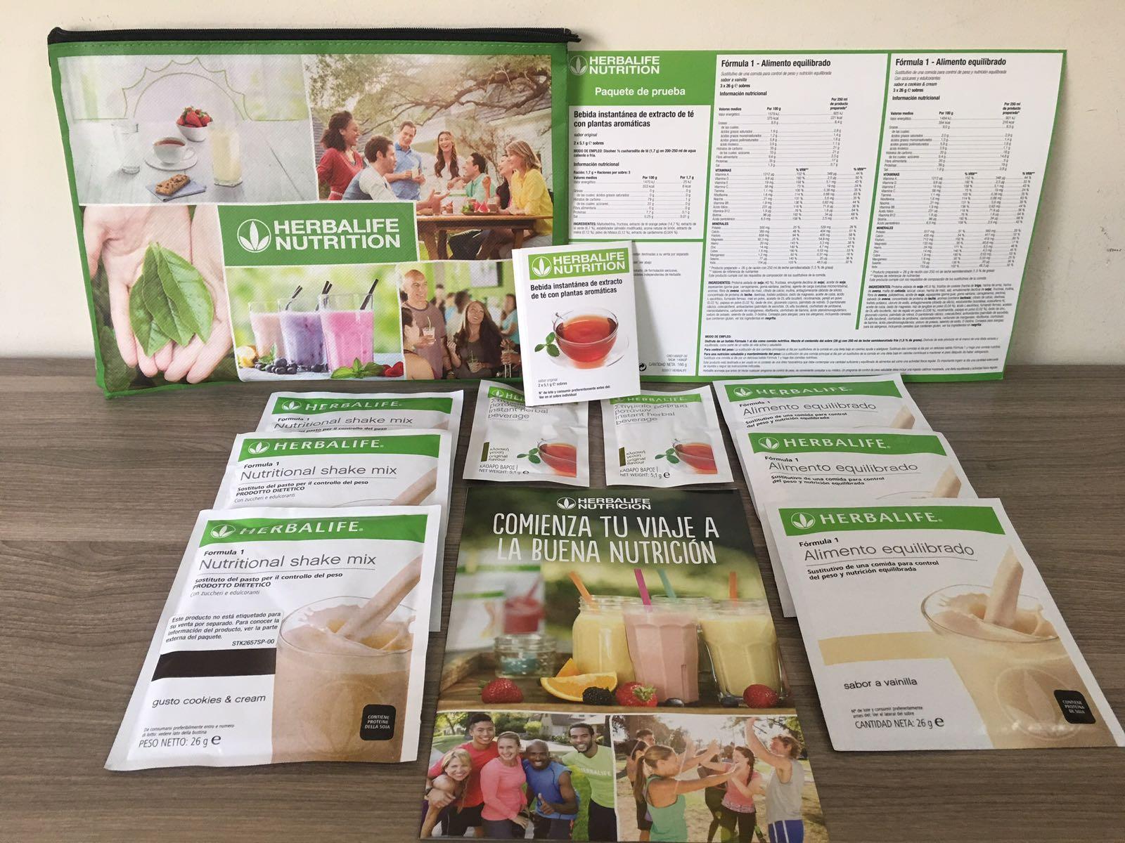 Pack herbalife prueba